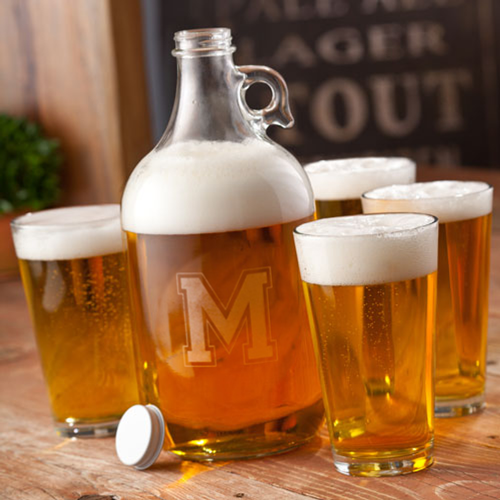 Personalized 64oz Beer Growler Set GC1095