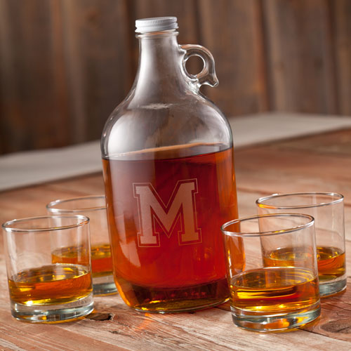 Personalized 64oz Whiskey Growler Set GC1097