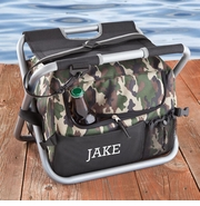 Embroidered Camouflage Sit and Sip Sturdy Cooler Seat