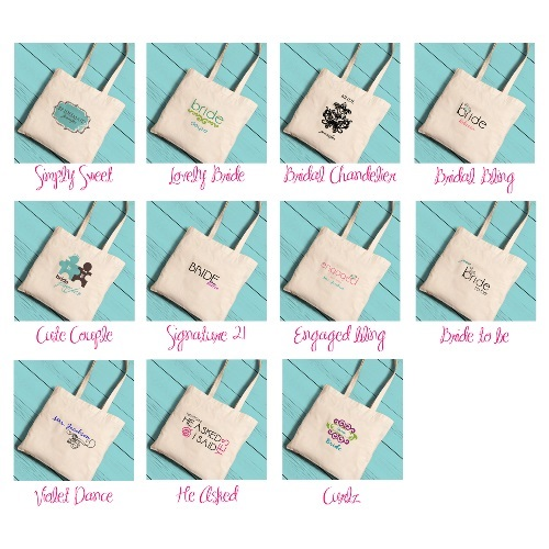 Custom Printed Brides Perfect Tote GC1116