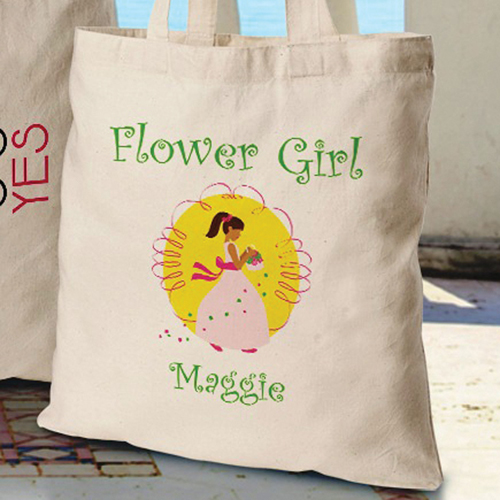 Custom Printed Flower Girl Perfect Tote GC1118