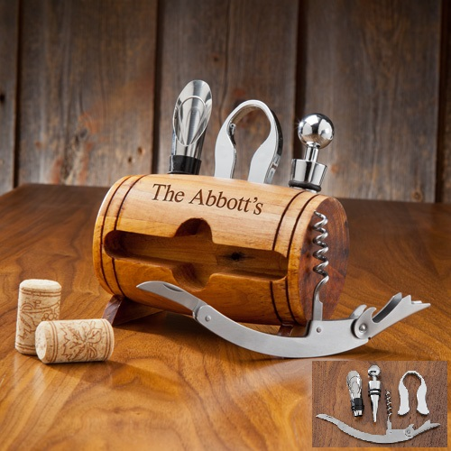 Engraved Wine Barrel Accessory Kit GC1123