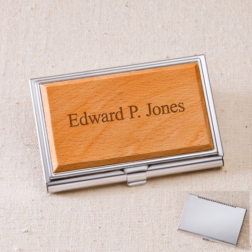 Engraved Maple Wood Business Card Case GC1125