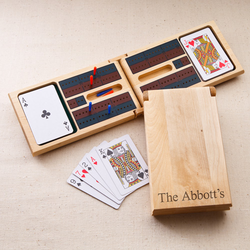 Engraved Birch Wood Cribbage Game Kit Set GC1126