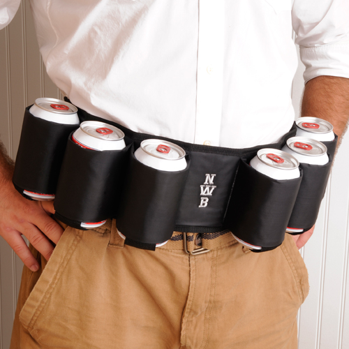 Personalized Joe Drinker Six Pack Beer Belt