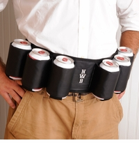 Personalized Joe Drinker Six Pack Beer Belt GC116