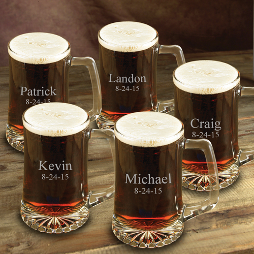 Engraved 25oz Premium Beer Mug Set GC117set-of-five