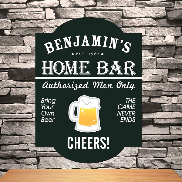 Custom Modern Wood Tavern Bar Sign