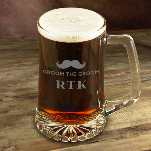 Engraved 25oz Mustache Mug For Groomsmen GC1212