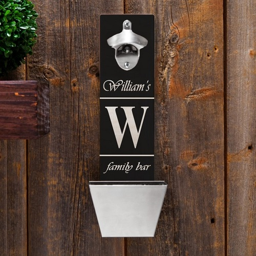Personalized Wall Mounted Bottle Opener GC1225