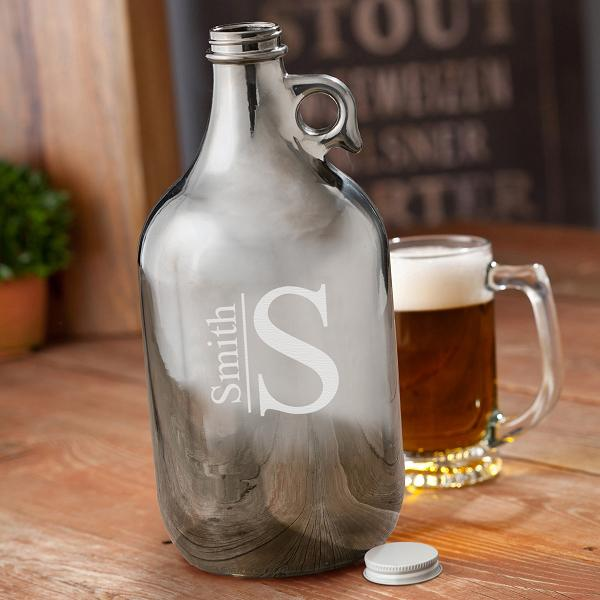 Personalized Gunmetal 64oz Beer Growler GC1251