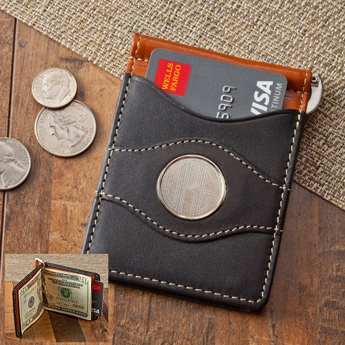 Engraved Two Toned Leather Wallet