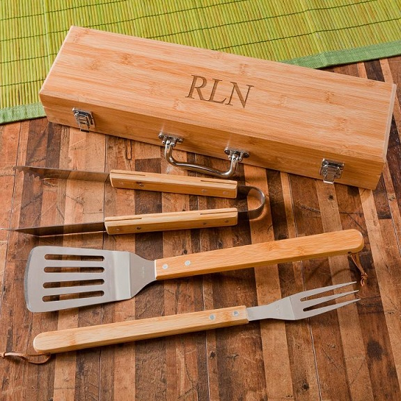 Personalized Bamboo Bbq Set GC1334