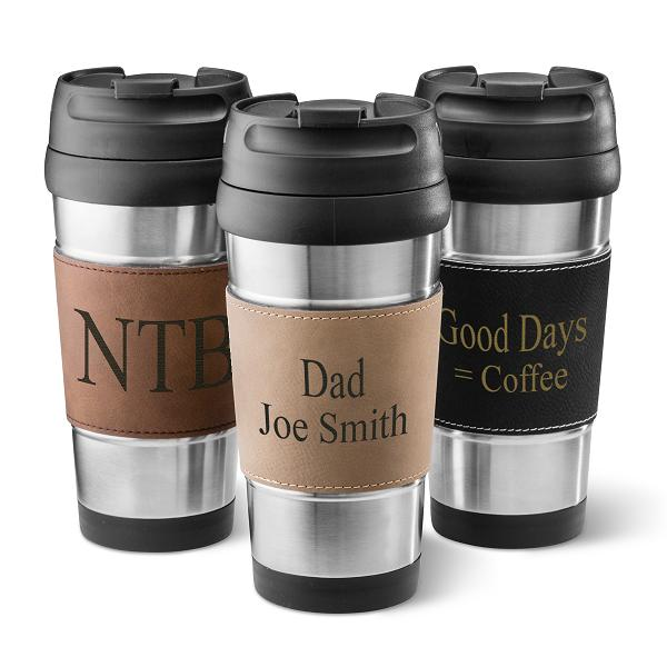 Personalized Leatherette Wrapped Stainless Steel Tumbler GC1362