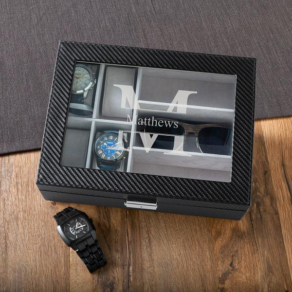 Personalized Skagwit Watch and Sunglasses Box GC1404