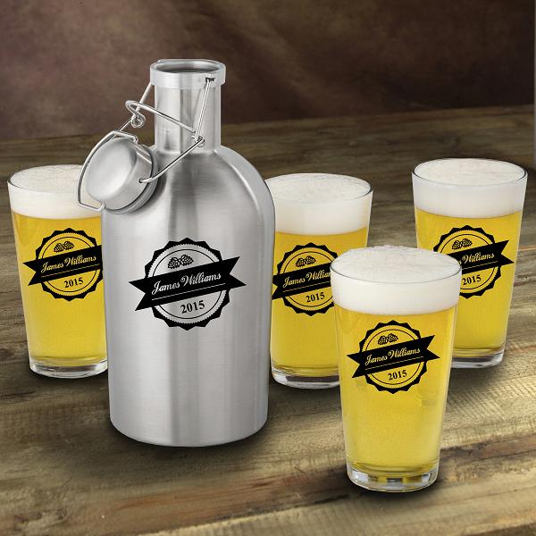 Personalized Stainless Steel Growler Bottle Cap Set GC1437BOTTLE-TOP
