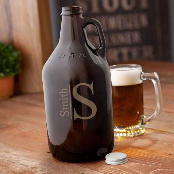 Personalized Amber 64oz Beer Growler GC1468