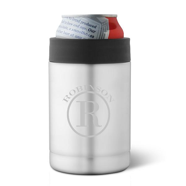 Personalized Stainless Steel Double Insulated Can Holder