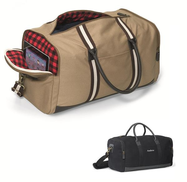 Personalized Heritage Flannel Lined Duffel Travel Bag GC1528