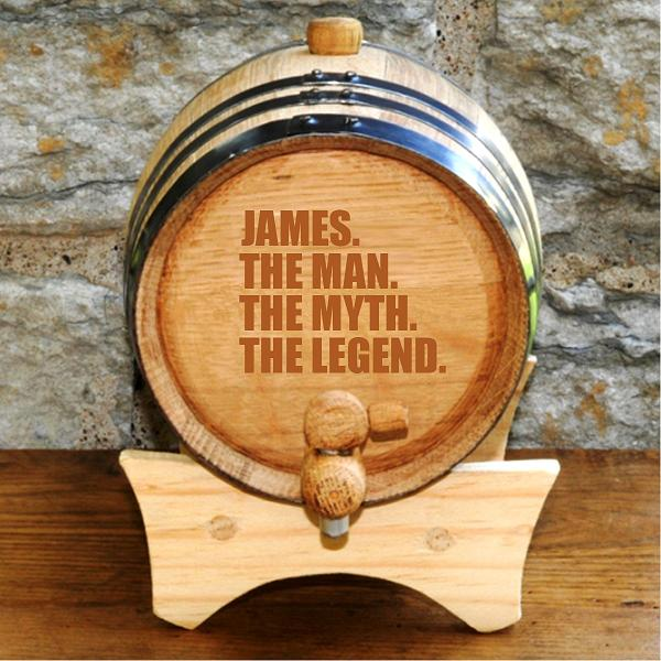 Personalized The Legend Whiskey Curing Barrel GC1533