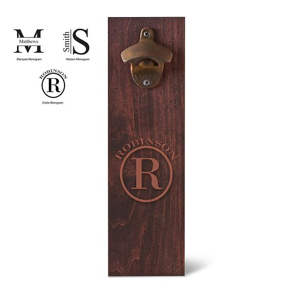 Monogrammed Rustic Wall Mounted Bottle Opener GC1565