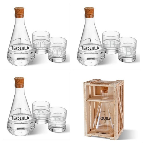 Personalized Glasses With Artland Tequila Decanter GC1601