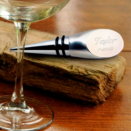 Engraved Stainless Steel Wine Bottle Stopper GC189