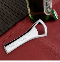 Engraved Silver Plated Bottle Opener GC195