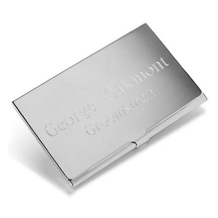 Engraved silver plated executive business card case personalize at engraved silver plated executive business card case colourmoves Images