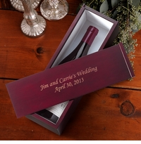 Personalized Solid Wood Wine Gift Box GC223