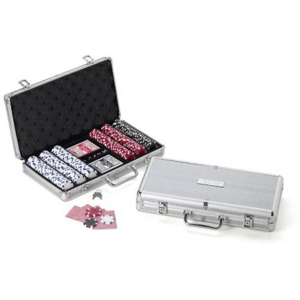 Engraved Case Pro Style Poker Set With 300 Pieces