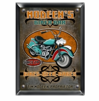 Cruiser Style Biker Man Cave Sign GC268Biker