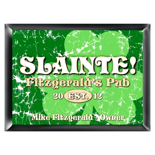 Personalized Irish Family Home Pub Sign