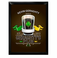 Irish Clover Drink Time Man Cave Pub Sign GC268Irish