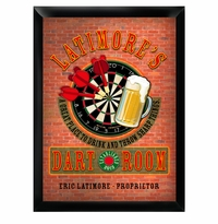 Darts and Drinks Bulls Eye Man Cave Sign GC268darts