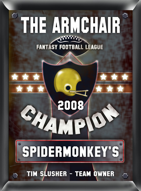 Personalized Fantasy Football Champion Plaque Sign GC268fantasy-football