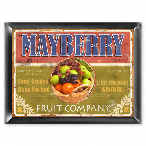 Custom Fruit Company Vintage Sign GC268fruitco