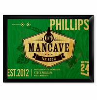 Custom Tap Room Mancave Green Pub Sign GC268taproom