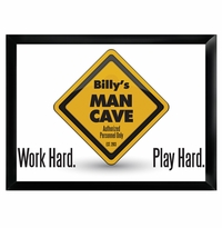 Work Hard and Play Hard Cusom Man Cave Pub Sign GC268workhard