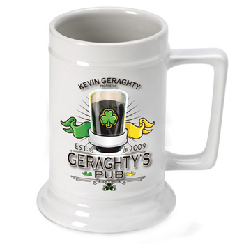 Personalized Ceramic 16oz Beer Stein Mug