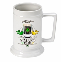 White Ceramic Beer Stein Mug GC270