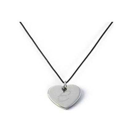 Engraved Heart Pendant Necklace With Custom Color Lace