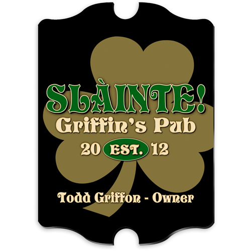Irish Pride Vintage Custom Pub Sign GC298-IRISH-PRIDE