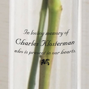 In Loving Memory Sympathy Memorial Printed Bud Vase GC327
