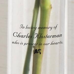 In Loving Memory Sympathy Memorial Printed Bud Vase
