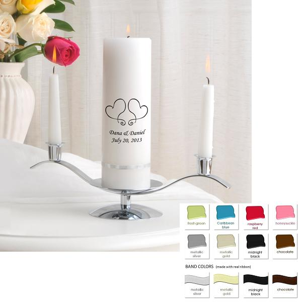 Elite Hand Printed Unity Candle Set GC330