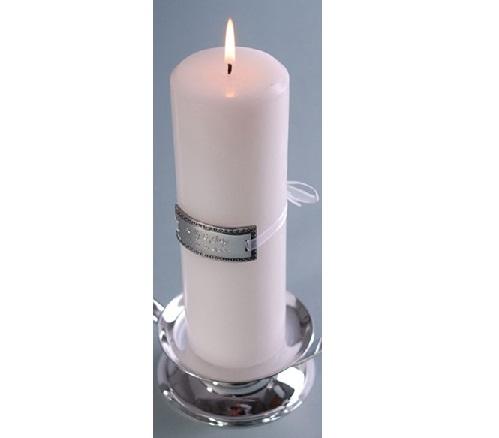 Engraved Medallion Unity Wedding Candle