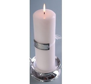 Engraved Medallion Unity Wedding Candle GC363