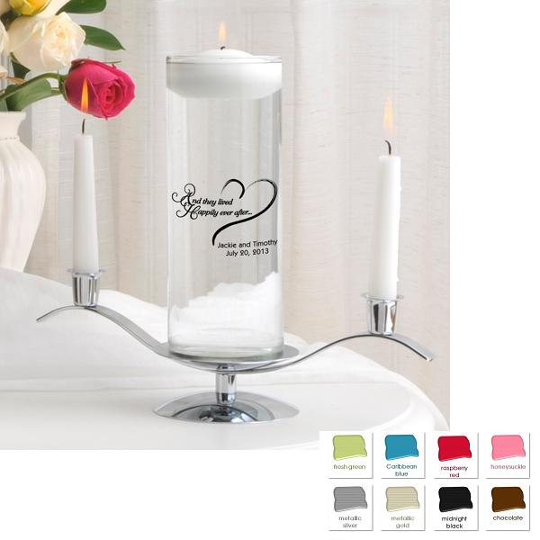 Personalized Floating Unity Candle Set GC377