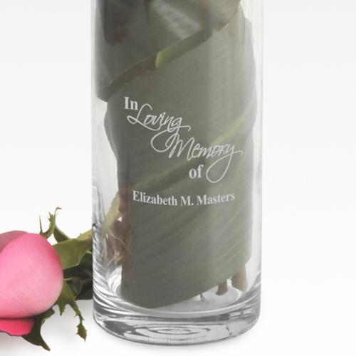 Garden Of Memories Sympathy Memorial 20oz Engraved Vase